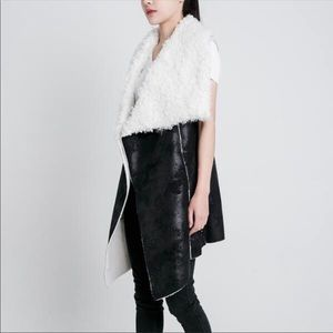 H BY HEURUEH Dawn Faux Shearling Vest
